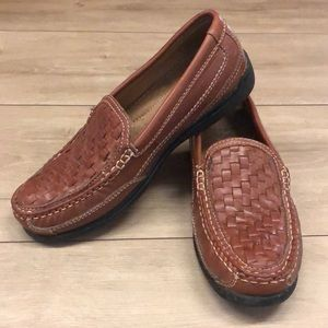 Dockers Leather Basket Weave Mens Loafers Size 8M